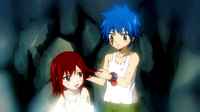 Young Jellal and Erza