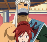 Simon Appears Behind Erza