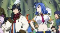 Gray and Juvia About to Teleport