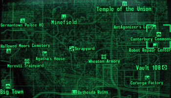 fallout 3 alien blaster location map with Canterbury  Mons on Watch as well Alien crash site together with Watch besides Fallout 4 Map Fallout 4 Guide How To Get The Alien Blaster Pistol Map Location And Screenshot Revealed Fallout 4 Diamond City Market Map likewise New Vegas Map.