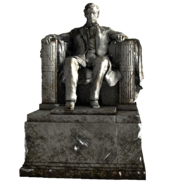 Lincoln statue fixed
