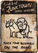 Jerky vendor on the road cover