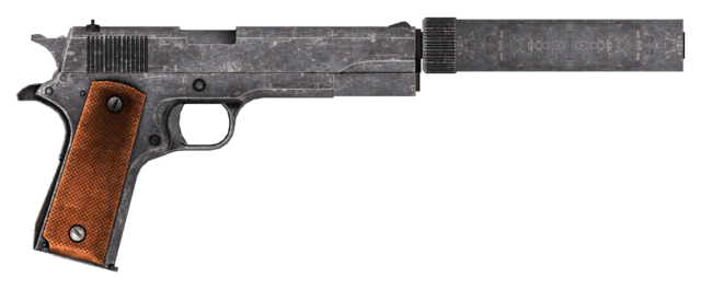 File:.45 Auto pistol with the silencer modification.png