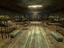 Guard barracks interior