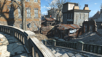 FO4 SBoston High monument entrance2