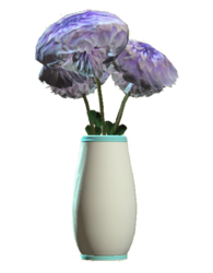 Glass rounded teal vase
