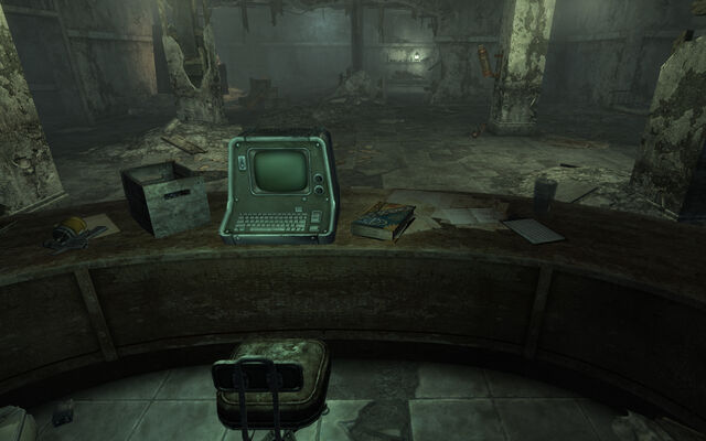 File:Bethesda ruins West office turret control and Big Book of Science.jpg