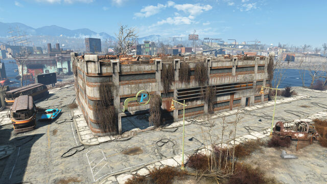 File:FO4 Boston Airport Departure Terminal Parking Lot.jpg