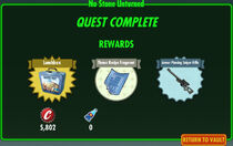FoS No Stone Unturned rewards