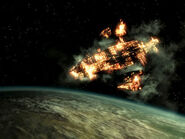 Zeta enemyship destroyed