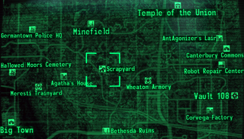 Dogmeat Fallout 3 Location On Map | World Map 07 on