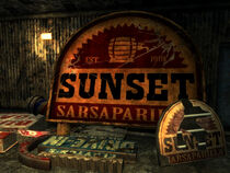 MOW Sunset Sarsaparilla sign