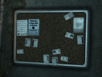 Vault 101 cafeteria bulletin board 2