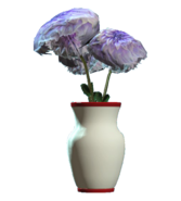 Glass vaulted red vase
