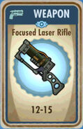 FoS Focused Laser Rifle Card