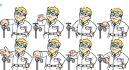 VaultBoy AnimationsWaterLow
