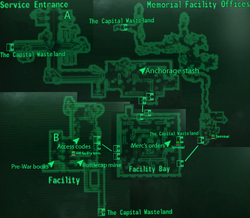 Anchorage Memorial Facility map