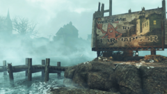 Fallout4 FarHarbor WelcomeSign