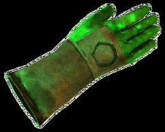 Corrosive glove
