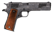 .45 Auto pistol with the HD slide modification
