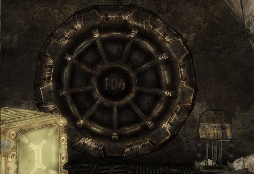 Fallout Vault Door image - vault 106 door geck | fallout wiki | fandom powered