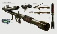 Art of Fallout 4 missile launcher