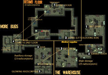 Carbon warehouse map