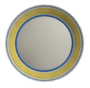 Yellow trimmed plate