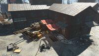 FO4 Fort Hagen (Parked Tank)