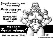 Power armor d20 advert