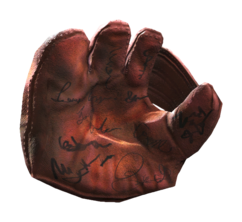 Fo4 signed catchers mitt