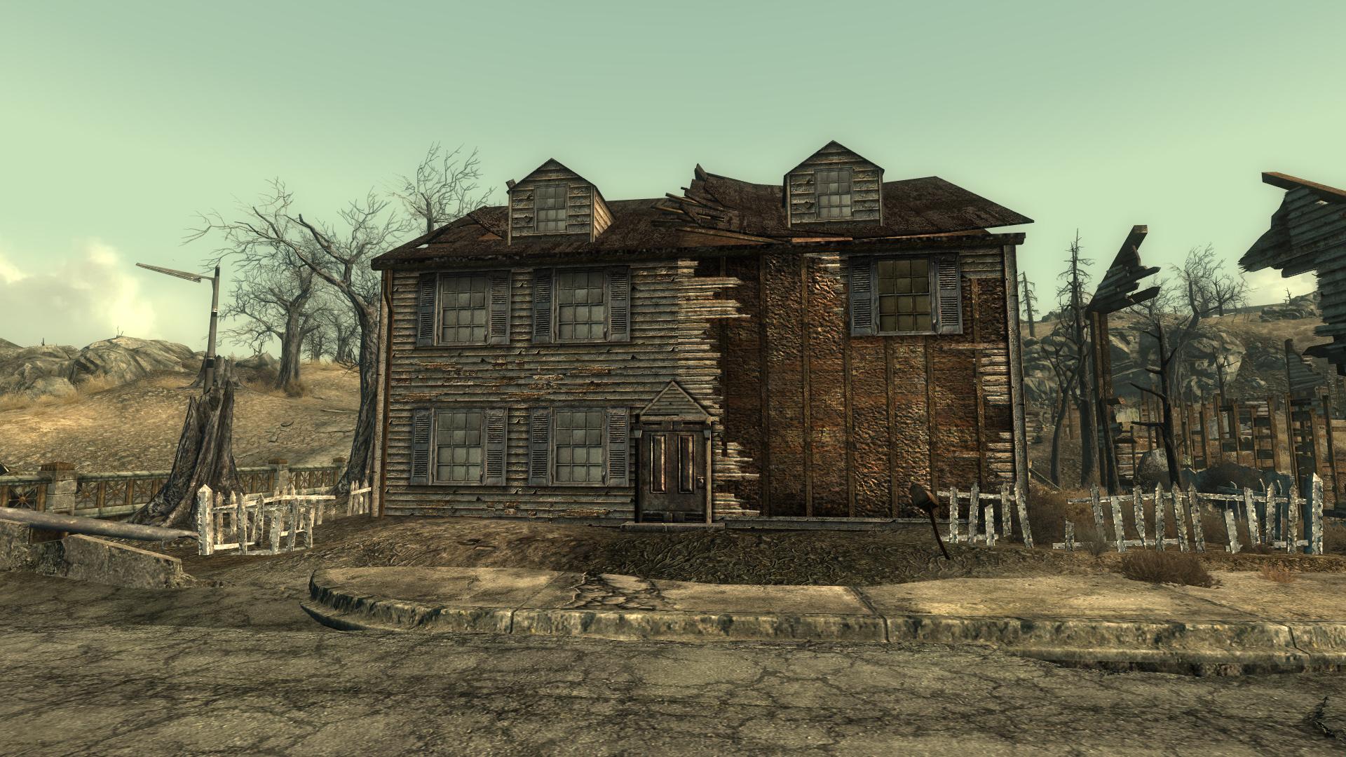 Minefield locked model house
