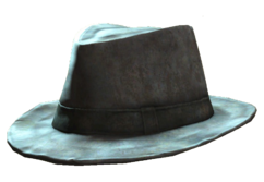 Battered fedora