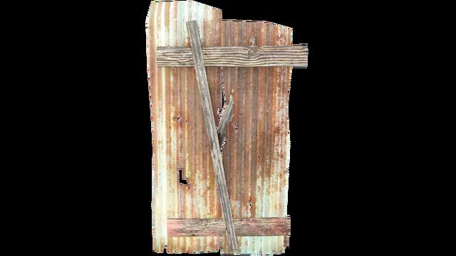 File:FO4 Half Shack Wall Metal Panels Sloped.png
