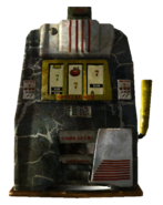 Broken slot machine