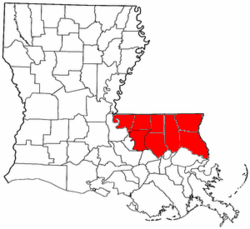 Map of Florida Parishes