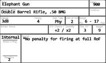 Elephant Gun Card