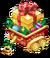 Decoration goldsparklygiftcart