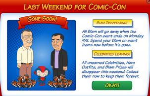 Comic Con Week 7 Reminder