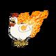 Decoration flamingchicken