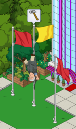 Ron Perlman Flag Pole