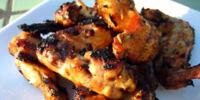 Grilled Coconut Wings with Thai Sauce by Elle Bee