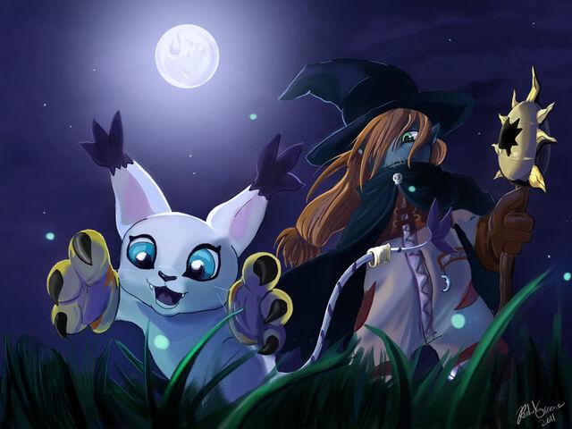 File:Wizardmon and Gatomon.jpg