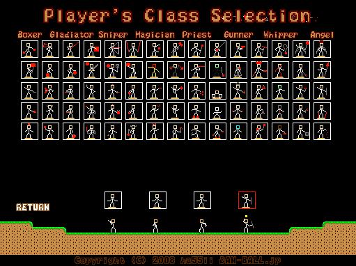 Stick Battle Class Selection