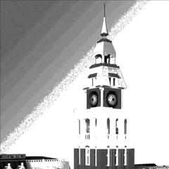 The High Street clocktower which, despite losing its spire in 1944, still stands; however, with the widening of the High Street's main road, the clock tower had to be widened itself. The spire has since been repaired