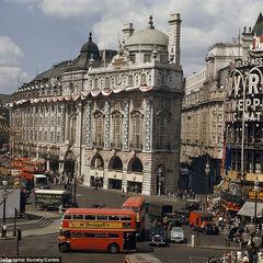 The Queen's ascension celebration in Centre Square, 1952—again, all still remain