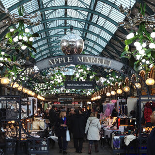 The famous Apple Market in the Arendsby Market House.