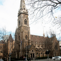 St. Luke's Church on Gunhuaver Street South, which lost its spire in December 1940.