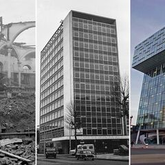 Transformation of Green Ringway's Avenir Road. The building on the left was the Stonebrook Building, the one on the centre Ratcliffe House, the one on the right Ratcliffe Building.