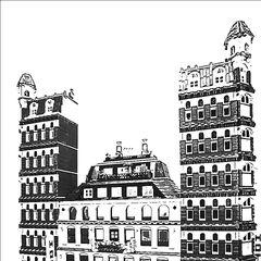 The designated offices for the Avenir Gazette newspaper, all buildings still remain